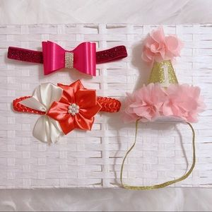 Other - Lot of 3 Baby Bow Headband